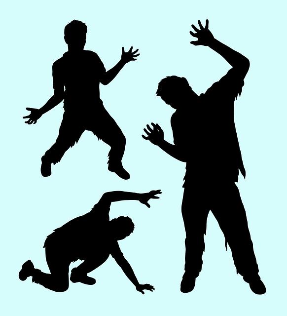 cartoon silhouette of actors