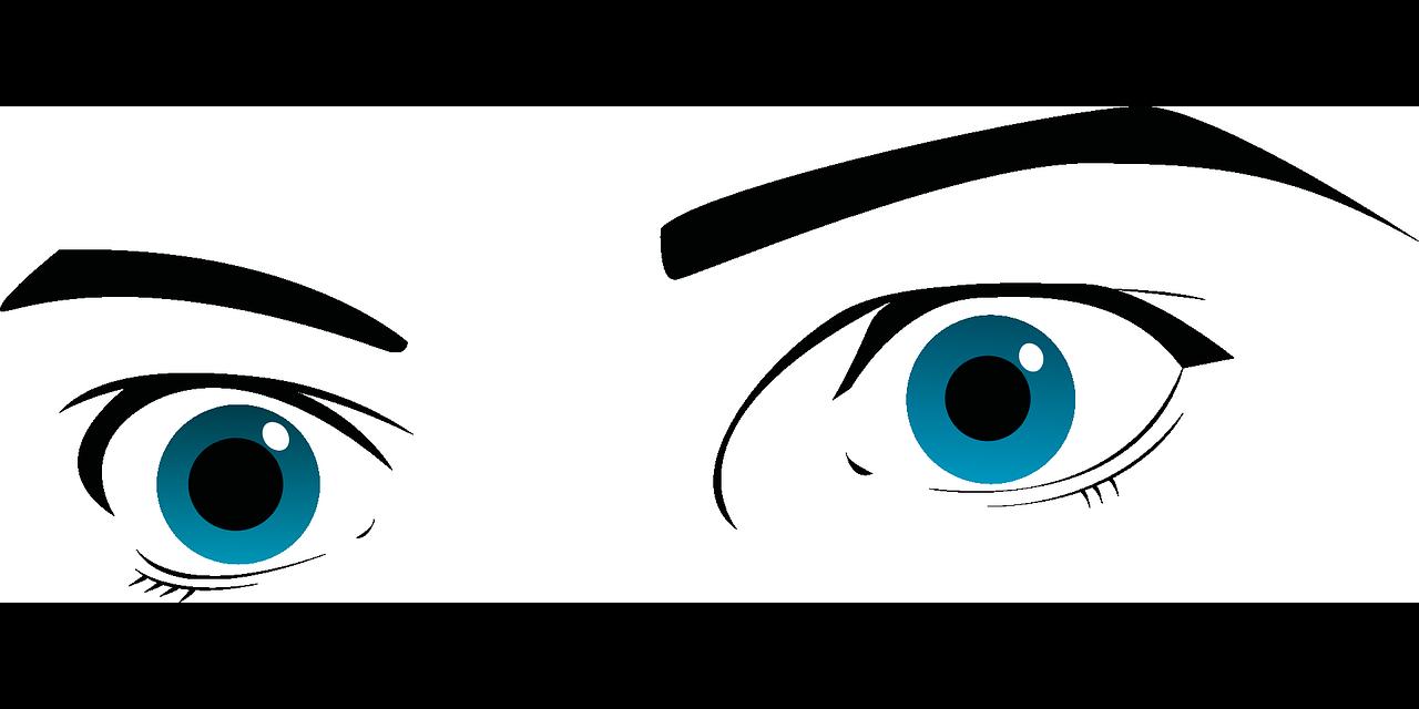 scared eyes illustration