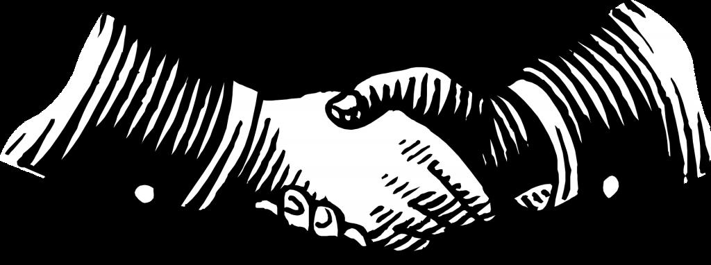 hand shake, illustration