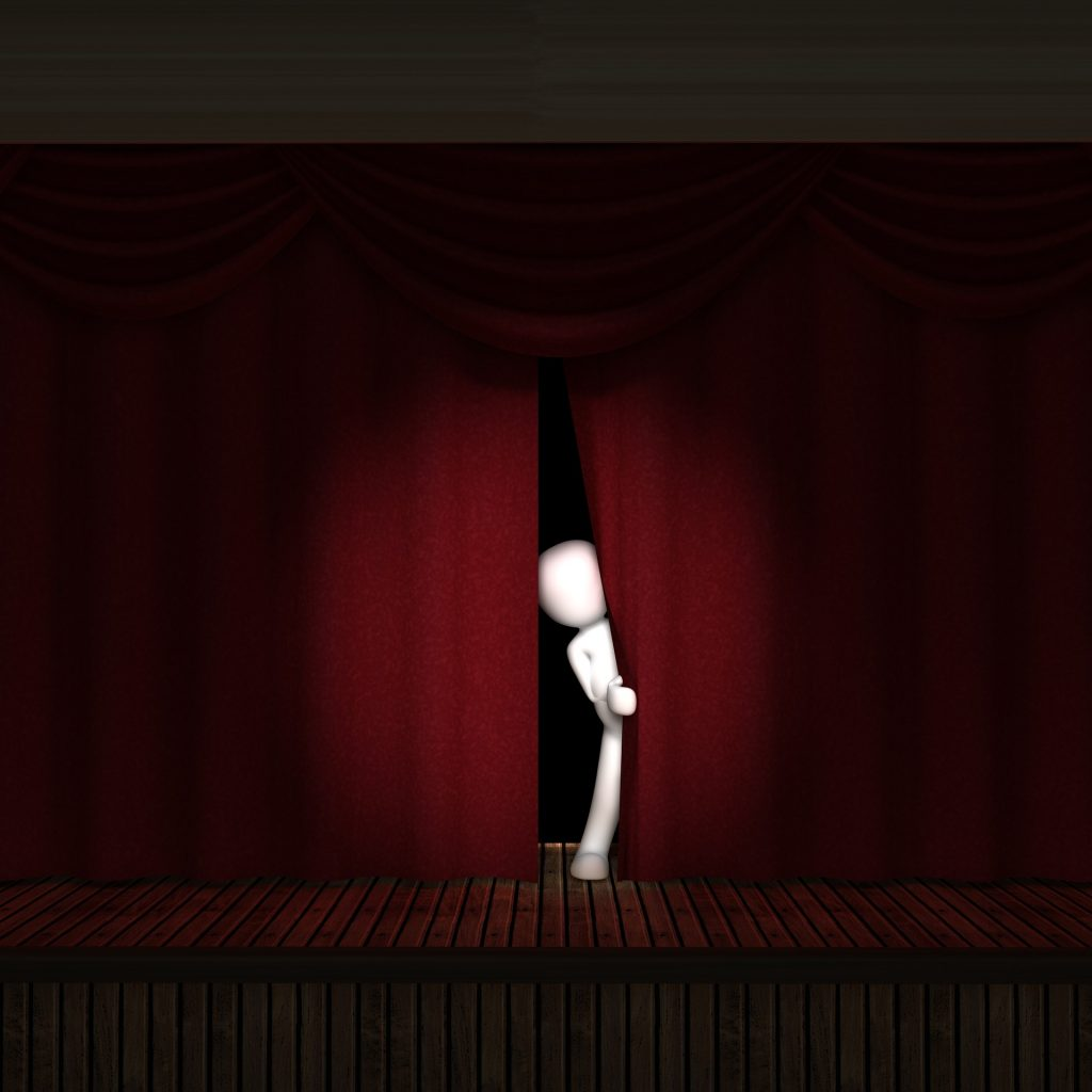 actor stage curtain