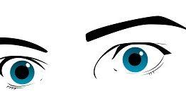 Frightened eyes