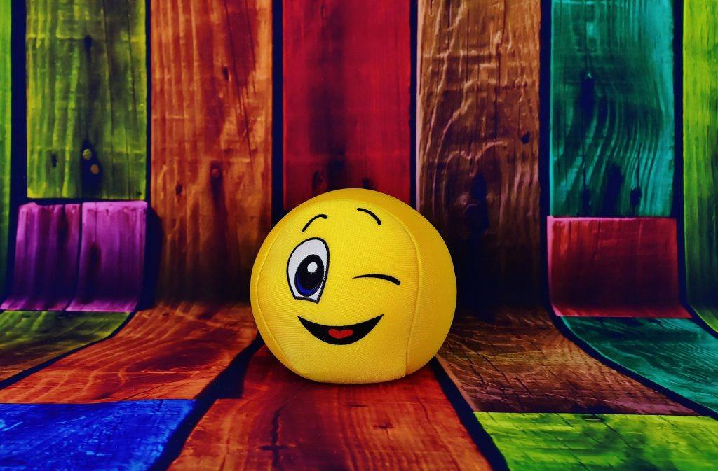 winking emoji ball